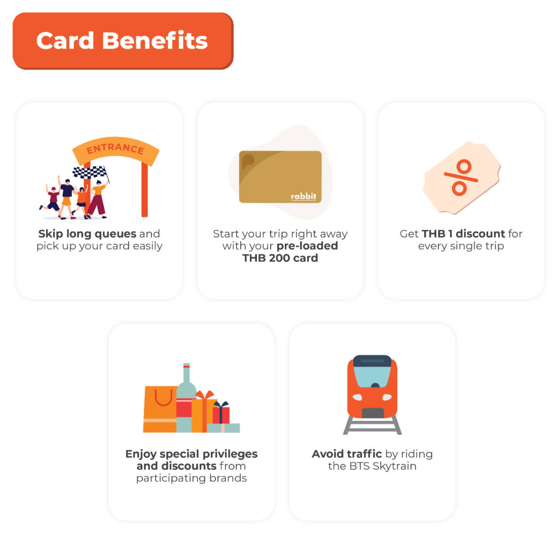 BTS Skytrain Rabbit Card Benefits